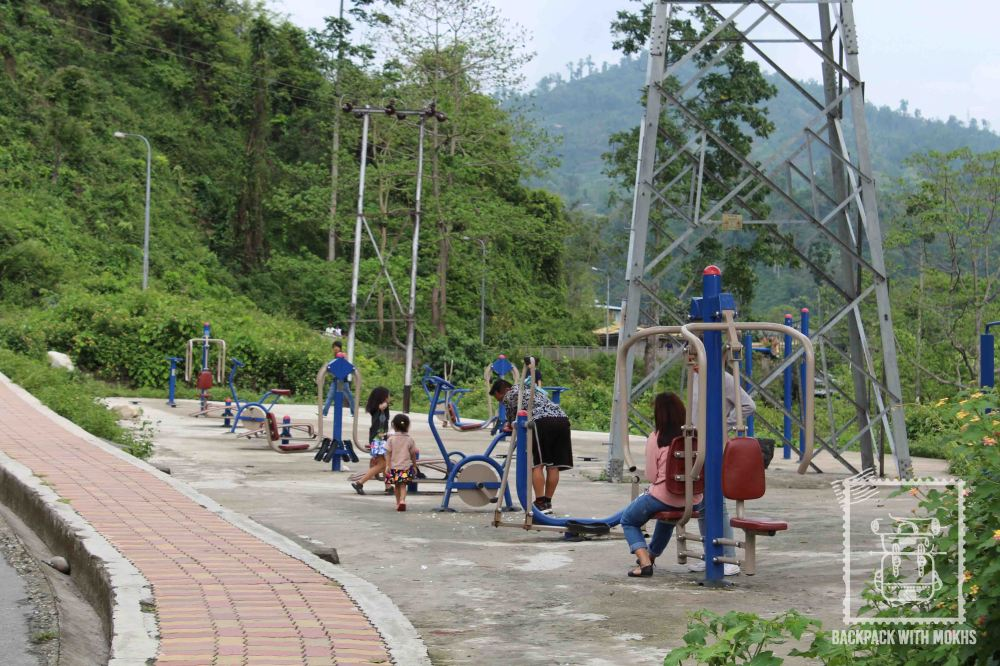 Open air gym in Phuentsholing