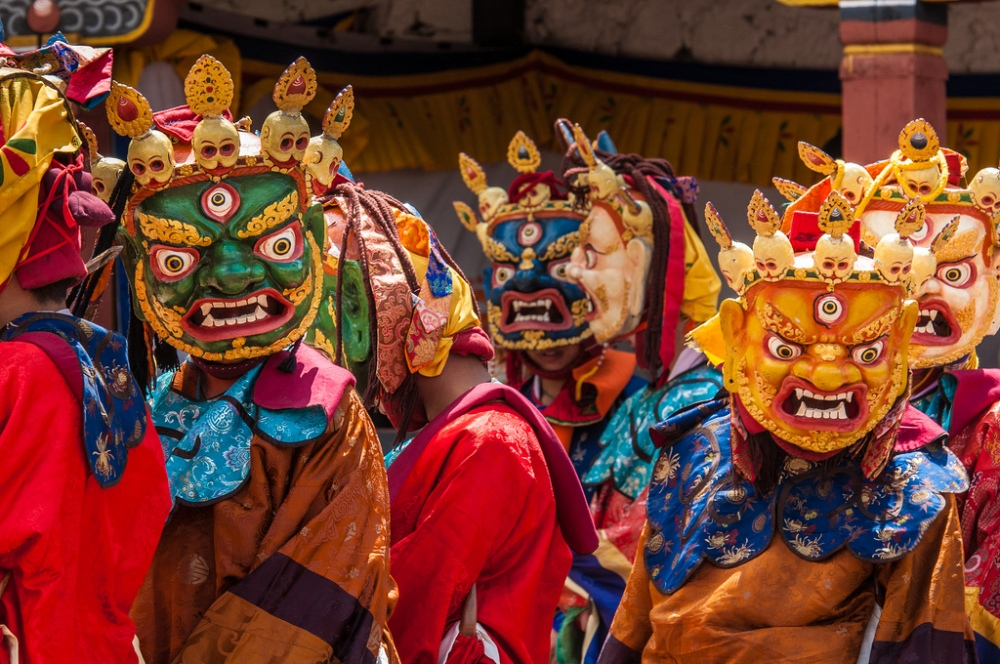 Dzongs are also the sites for the famous Tsechu festivals which are held throughout the year. Unfortunately, there wasn't any festival during my visit. - (Image from Google)