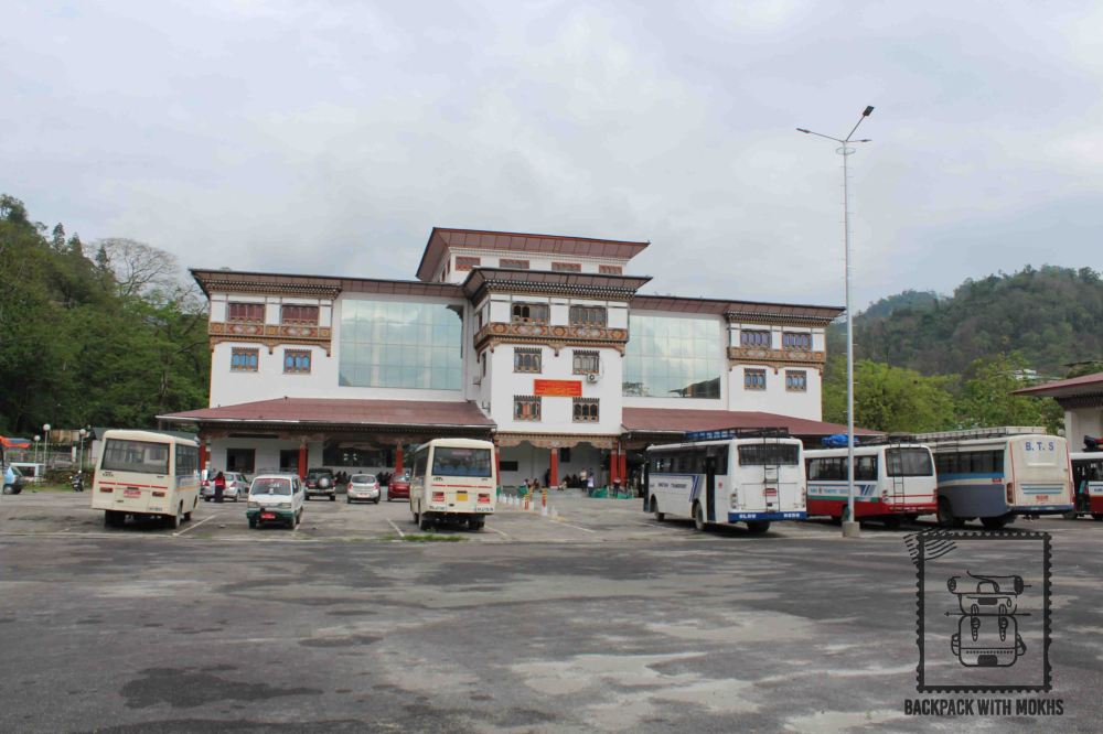 Bus stand at Phuentsholing
