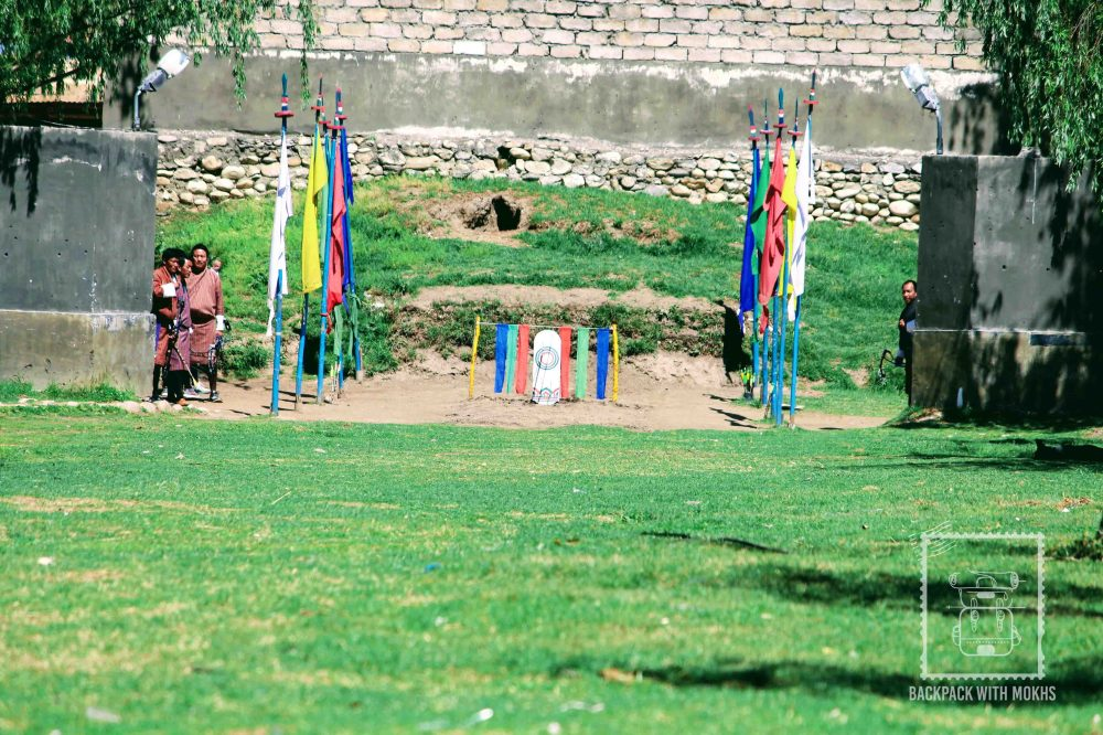 Archery ground in Paro.