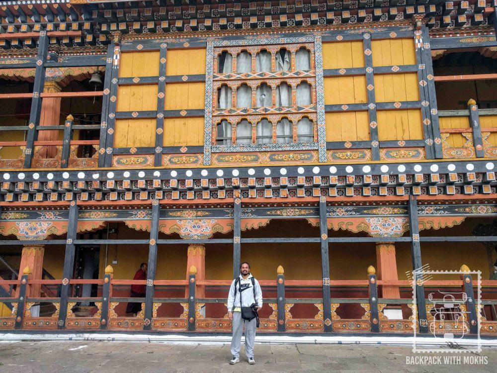 In the Dzong, it is mandatory to cover your legs.