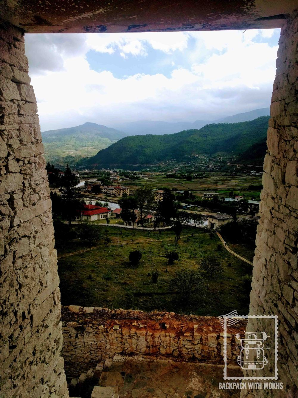 View of the Paro valley from the Dzong