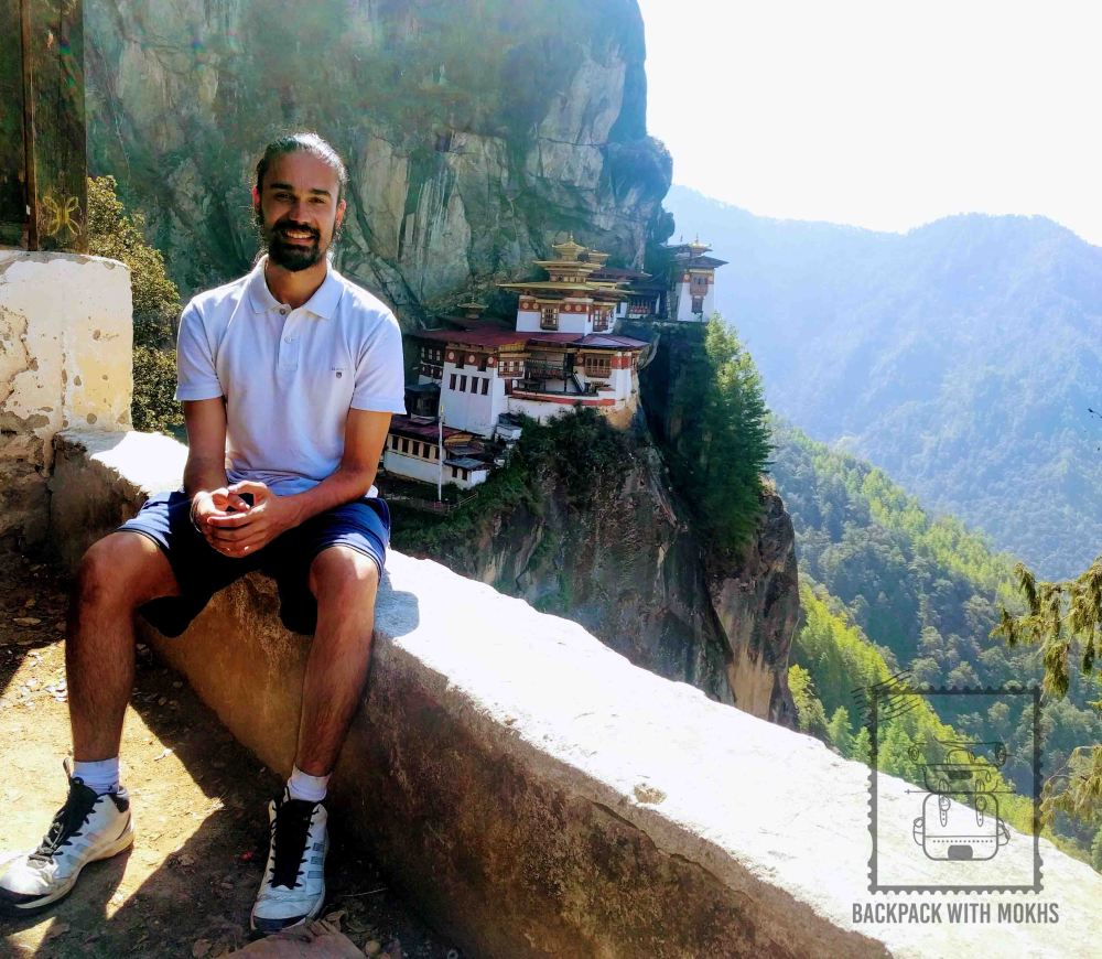 Jaitegh Mokha with the Tiger's Nest Monastery in the background