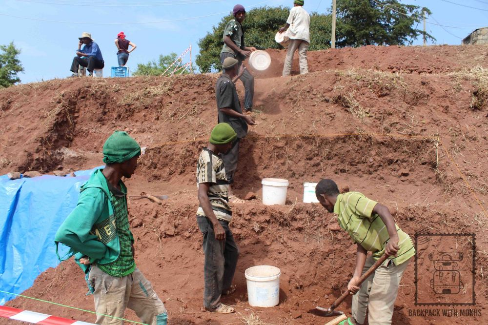 archeological work going on in lalibela