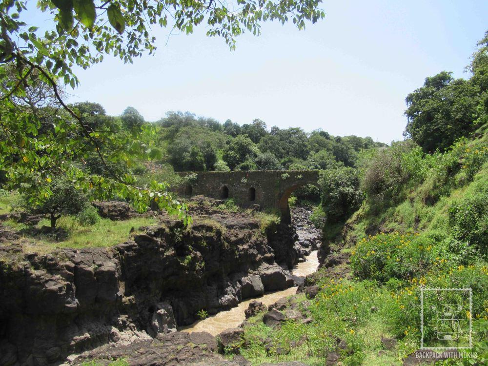portuguese bridge on the way to blue nile falls