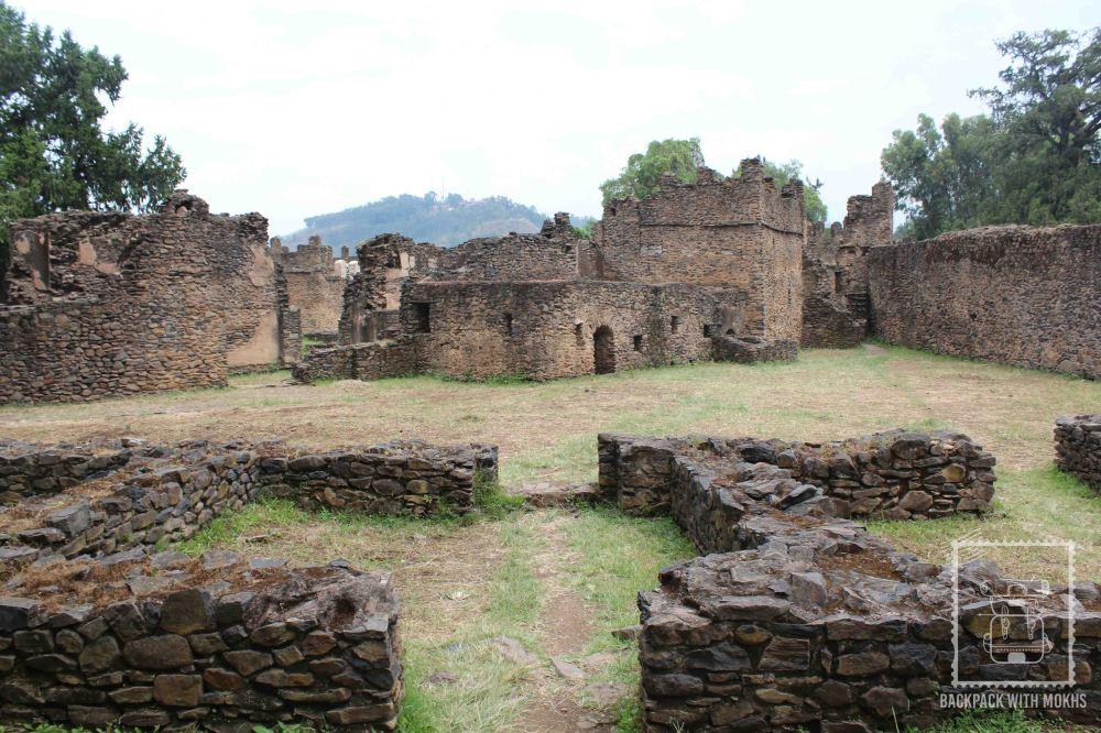 ruins of castle in gondar