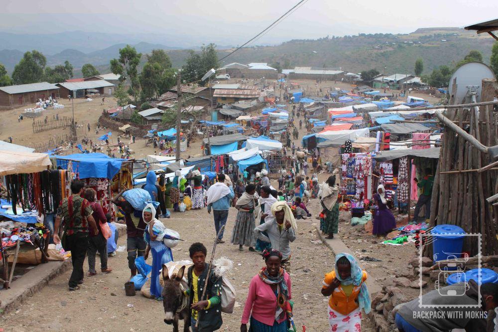 weekend market in lalibela