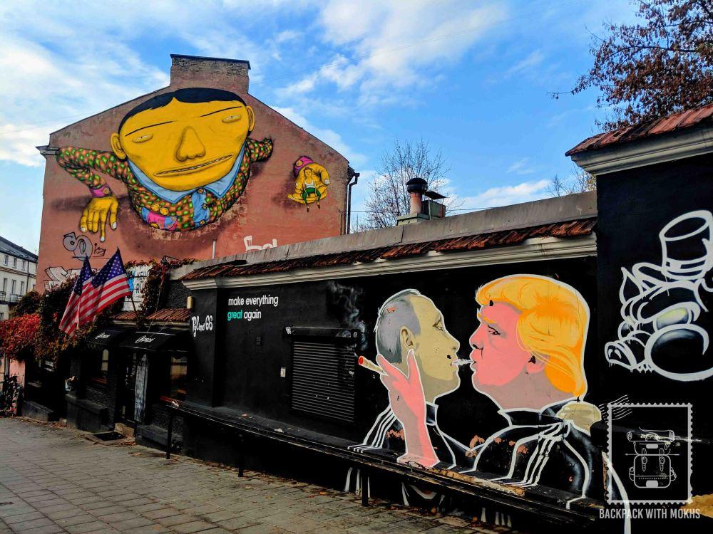 Trump-Putin Mural in Vilnius, Lithuania
