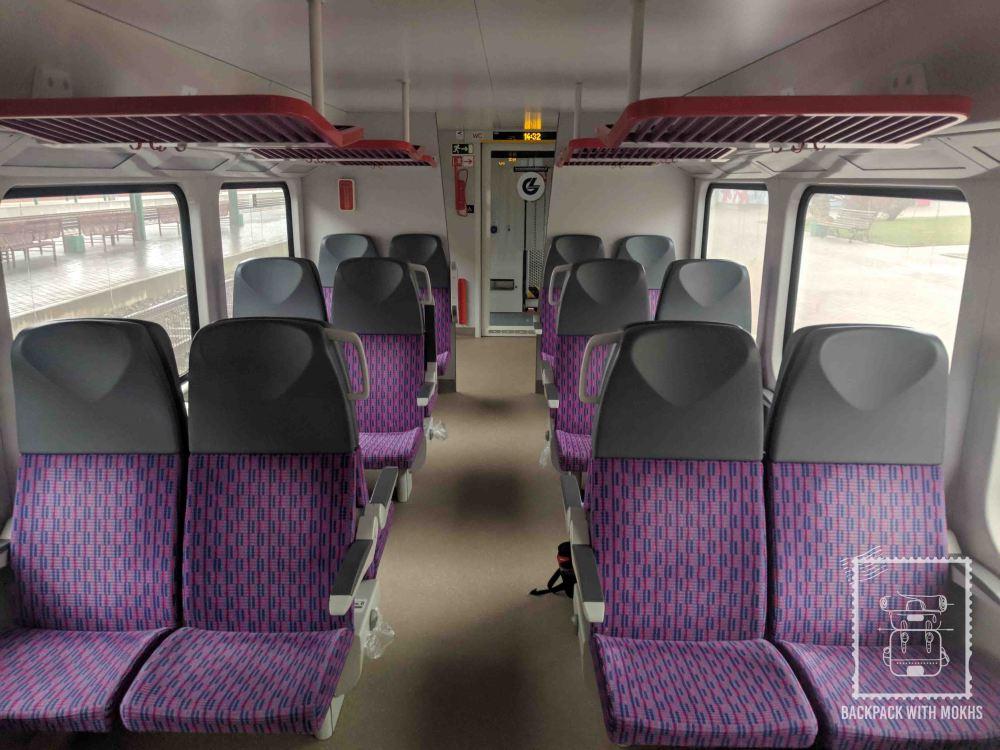 Vilnius - Kaunas train from the inside